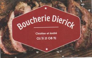 Sponsoring carte visite Boucherie Dierick