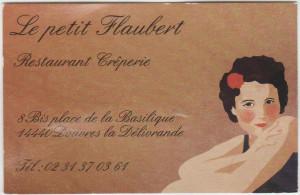 Sponsoring carte visite Le Petit Flaubert